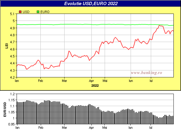 grafice evolutie curs BNR Euro,USD